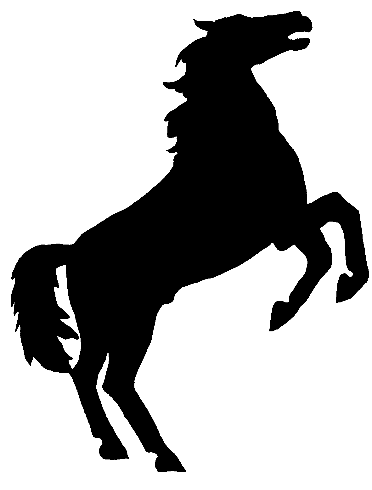 1182x1557 Rearing Horse With Cowboy Silhouette