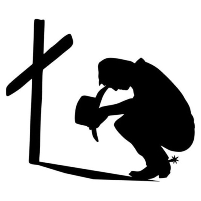 Cowboy Praying Silhouette