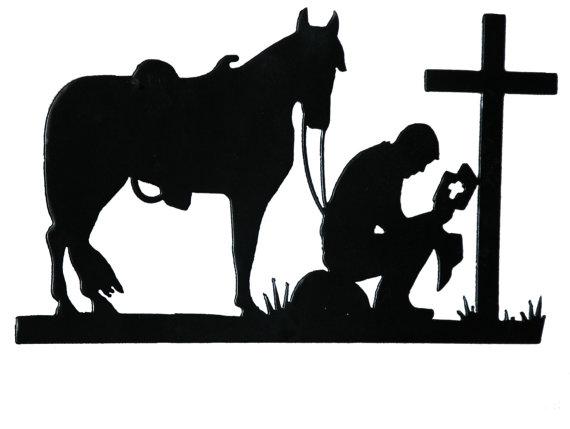570x429 Praying Cowboy Cowboys, Cricut And Silhouettes