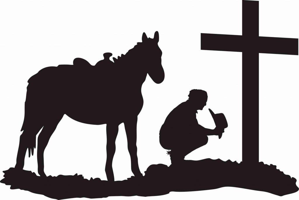 1024x686 Unique Cowboy Clipart Prayer Drawing