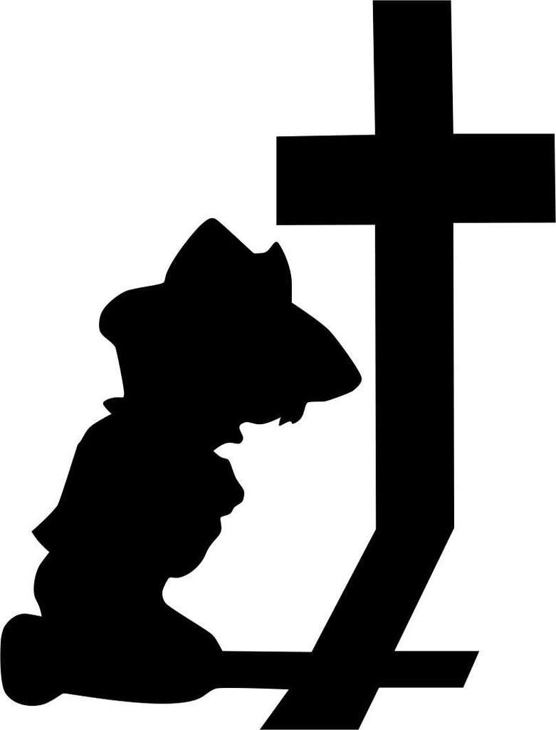 781x1024 Little Cowboy Praying Religious Decal North 49 Decals