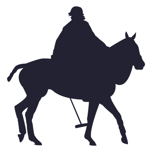 512x512 Cowboy Riding Horse Silhouette