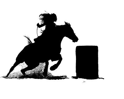 400x320 Silhouette Cowboys And Cowgirls Silhouettes