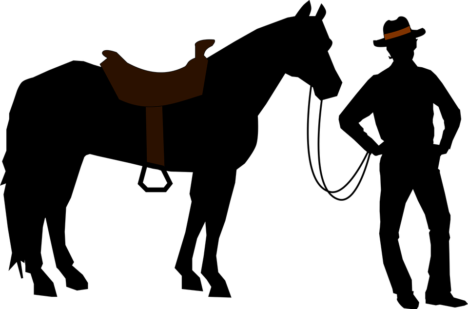 960x634 Cowboy Silhouette Transparent Png