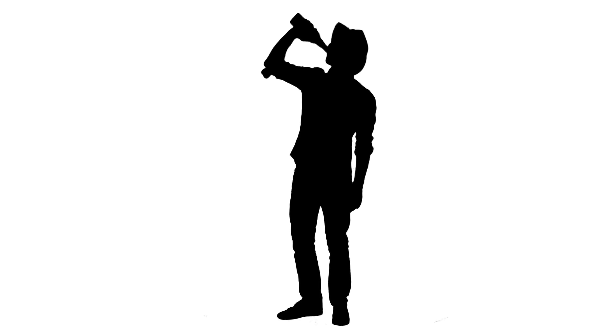 1920x1080 Drunk Guy Silhouette Cowboy Style