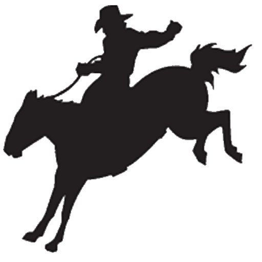 512x512 Cowboy Bucking Silhouette Country Western Rodeio