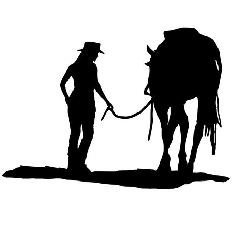 474x442 Cowboy On Horse Silhouette