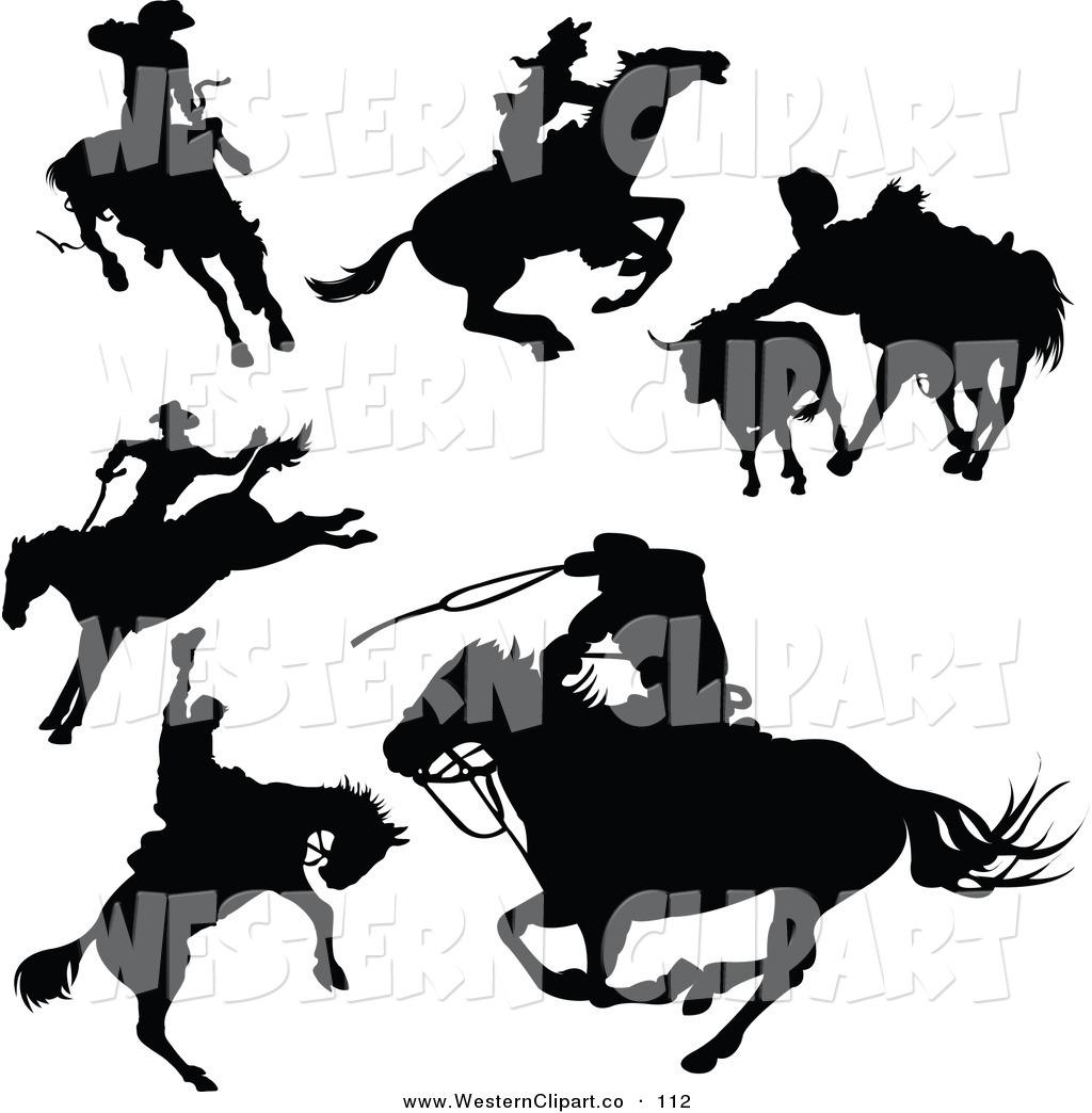 1024x1044 Vector Western Clip Art Of A Digital Set Of Black Cowboy