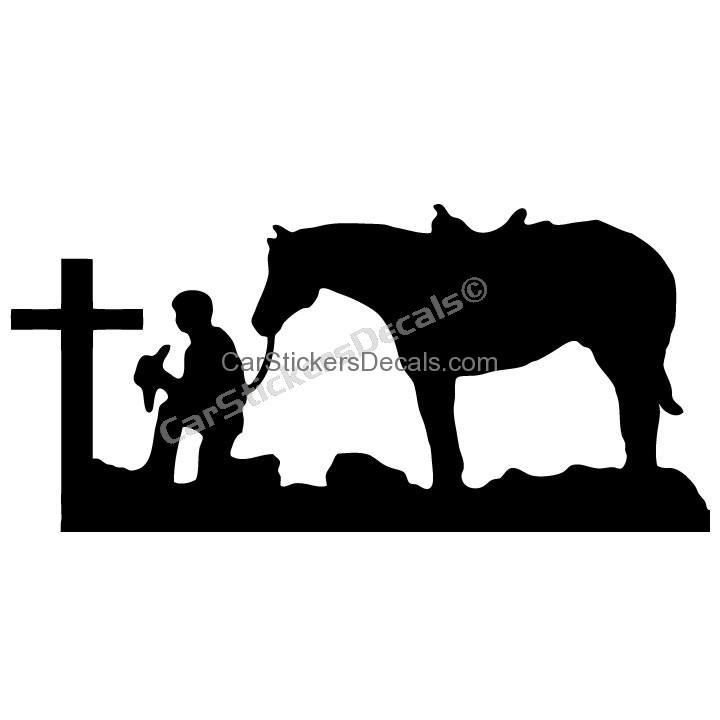 720x720 Praying Cowboy Clipart
