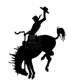 236x284 Cowboy On Bucking Horse Silhouette Saddle Bronc Silhouette