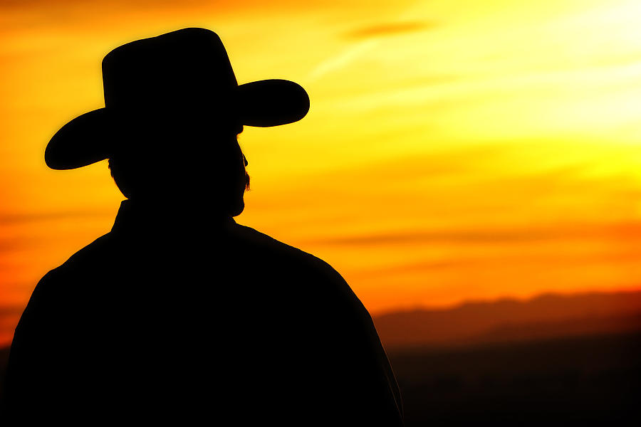 900x600 Sunset Cowboy Photograph By Lincoln Rogers