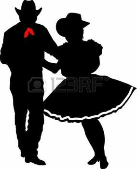 284x350 Square Dancing The Perfect Country Silhouette Of Square Dancing