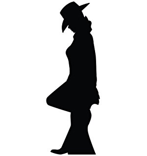 Cowgirl And Cowboy Silhouette