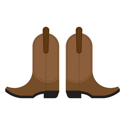 416x416 Pair Of Cowboy Boots Premium Clipart