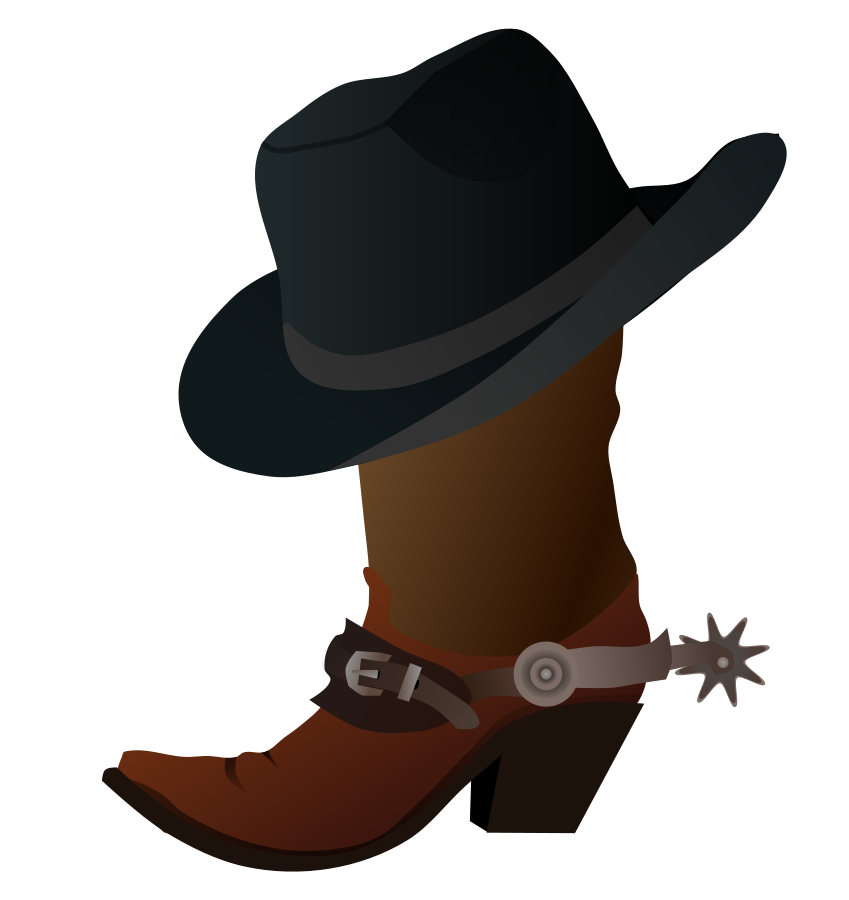 849x900 Cowboy Boot Clipart