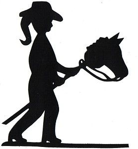 278x300 Littlest Cowgirl Silhouette Applique For Quilt Top Kit Hobby