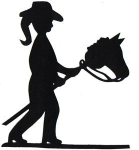 278x300 Littlest Cowgirl Silhouette Applique For Quilt Top Kit