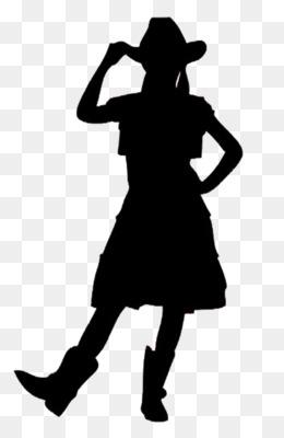 260x400 Silhouette Cowboy Woman On Top Clip Art