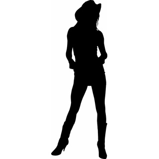 320x320 Free Cowgirl Silhouette Clip Art Art Makes Me Free