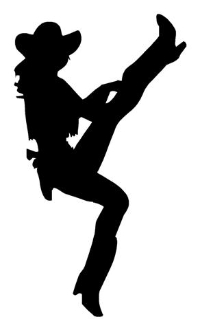 200x330 Cowgirl Silhouette 2 Decal Sticker