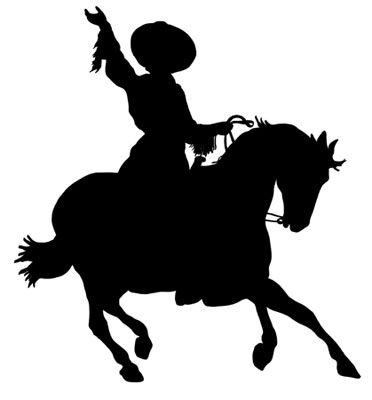 372x400 Cowgirl Silhouette