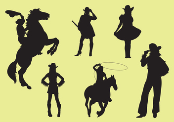 352x247 Cowgirl Silhouette Vectors Free Vector Download 329693 Cannypic