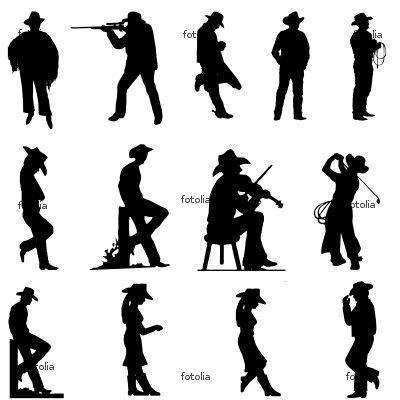 400x400 Some Of These Cowboy Silhouettes Might Be Cute For The Bulletin