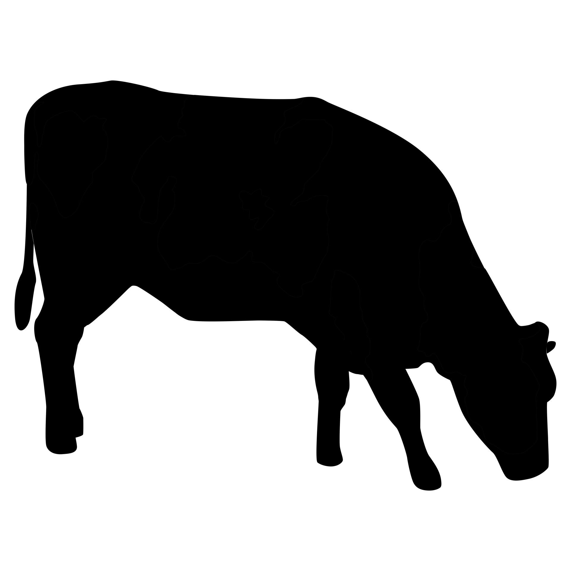 1920x1920 Cow Silhouette Free Stock Photo