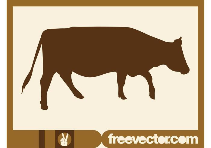 700x490 Walking Cow Silhouette