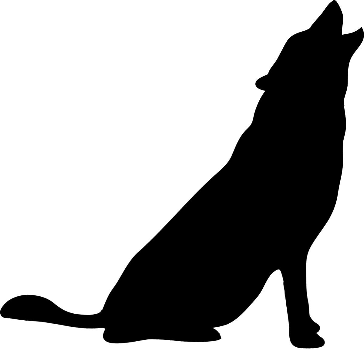 1200x1155 Wolf Silhouette Of Angry Wolf Animal Angry Wolf