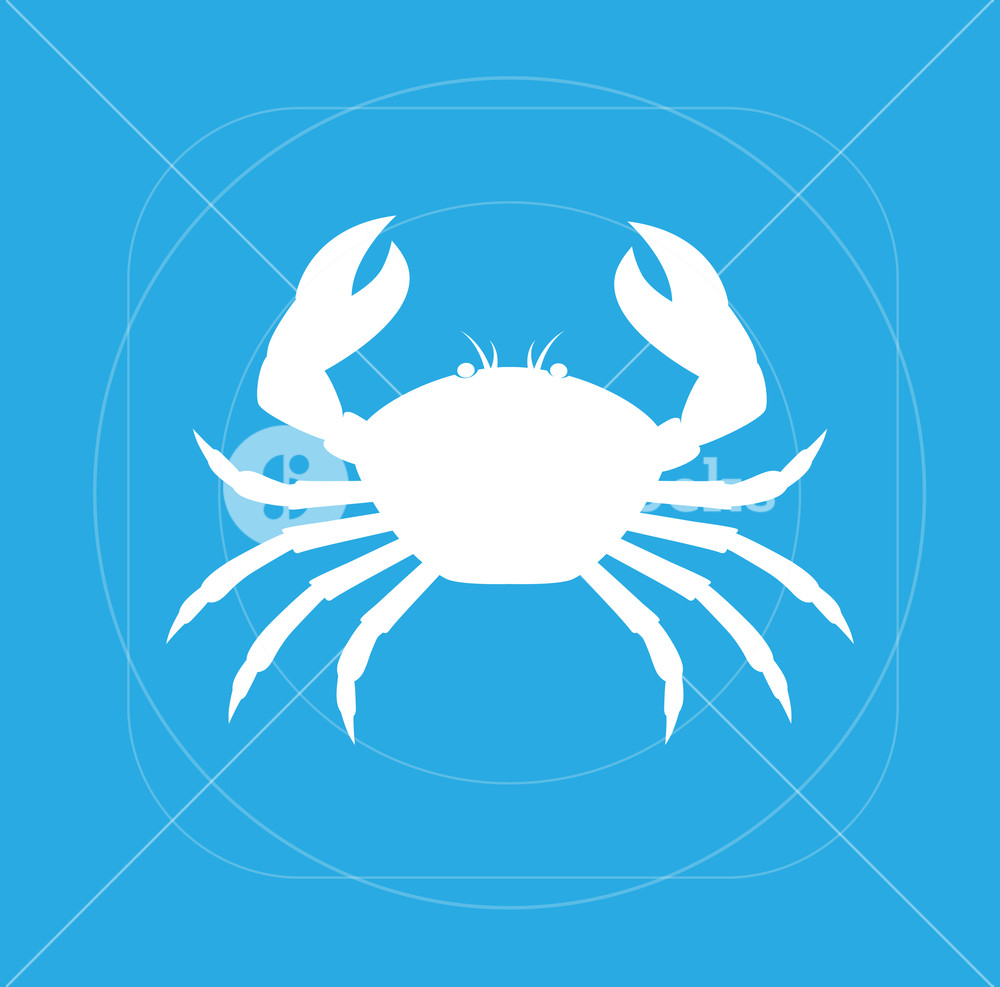 1000x987 Crab Silhouette Vector Illustration Royalty Free Stock Image
