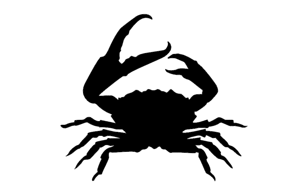 1002x633 Crab Silhouette Dxf File Free Download