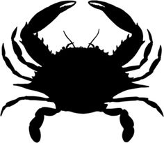 photograph about Crab Stencil Printable titled Crab Silhouette at  Cost-free for person hire