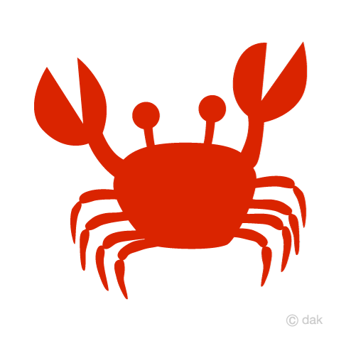 480x480 Free Red Silhouette Crab Cartoon Amp Clipart Amp Graphics [Ii]