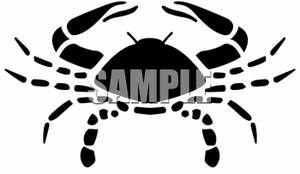 300x174 Clipart Of A Crab Silhouette