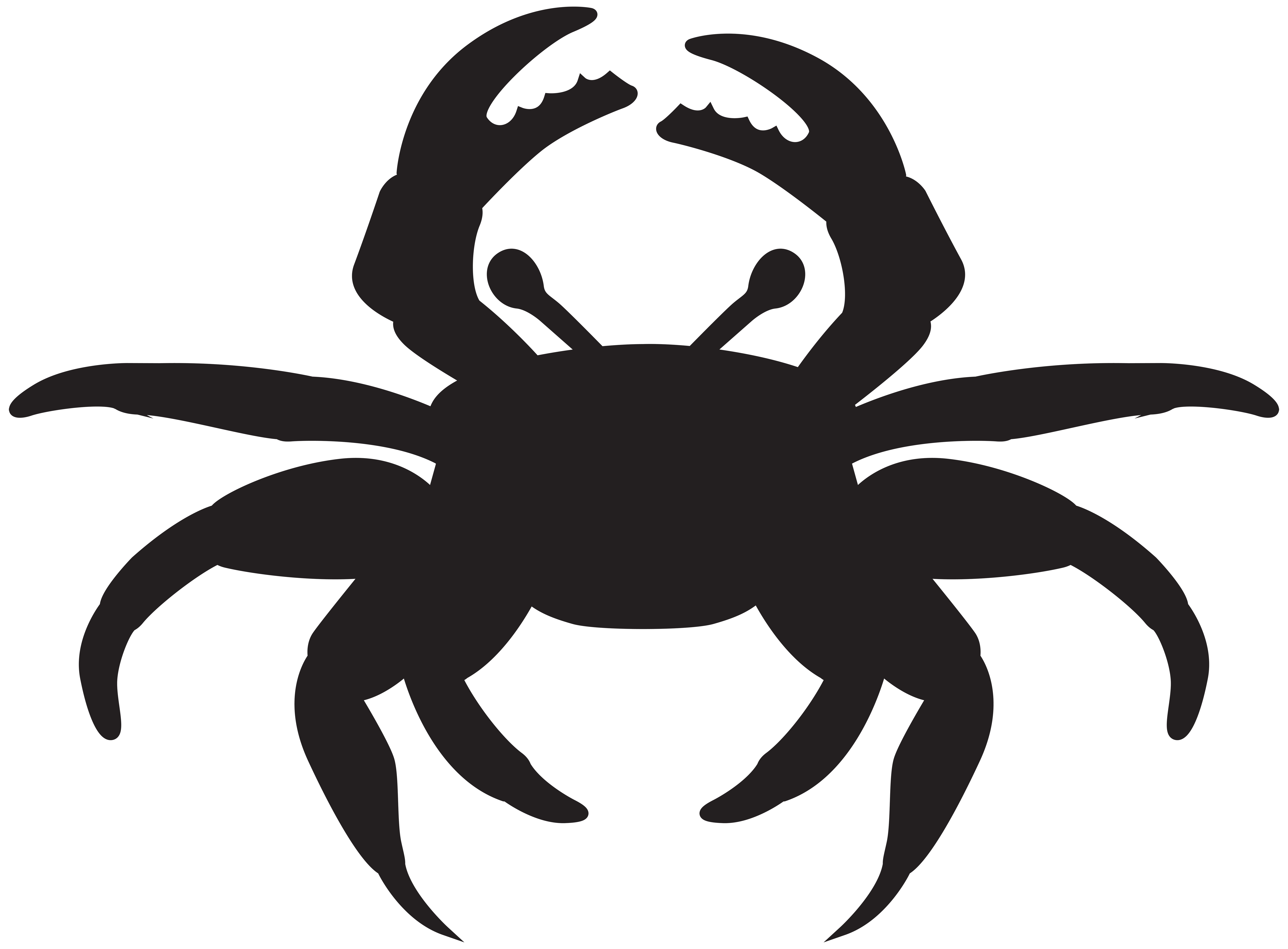 8000x5895 Crab Silhouette Png Clip Art Imageu200b Gallery Yopriceville