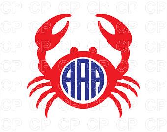 340x270 Crab Monogram Svg Etsy