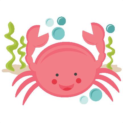 432x432 Smiling Crab Svg Scrapbook Cut File Cute Clipart Files