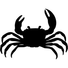 236x236 Vector Crab Silhouette Crabe Silhouettes, Template
