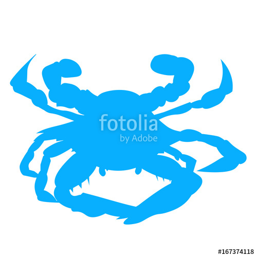 500x500 Blue Baltimore Or Maryland Crab Silhouette. Chesapeake Bay Crab