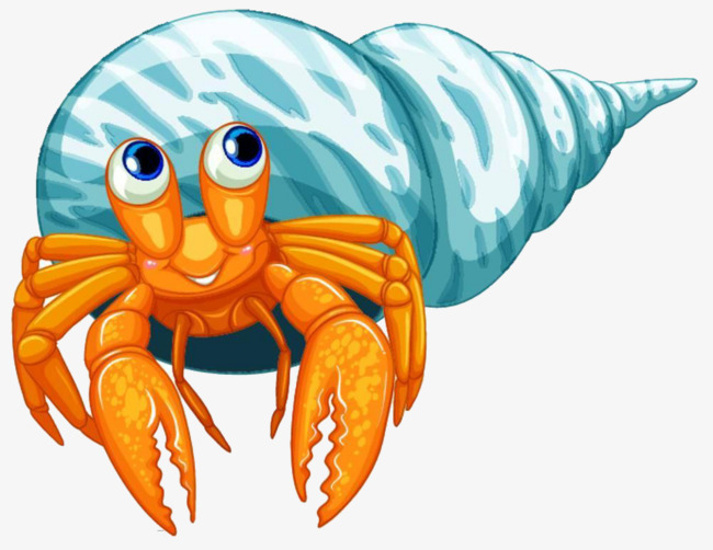 650x502 Blue Hand Painted Hermit Crab, Blue, Crab, House Png Image