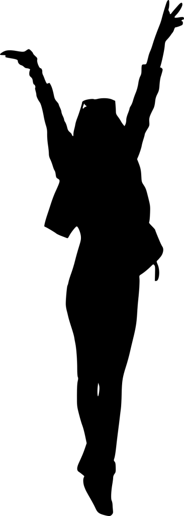 366x1024 9 People With Hands Up Silhouette (Png Transparent)