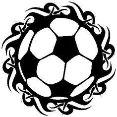 236x236 Silhouette Cameo Soccer Ball