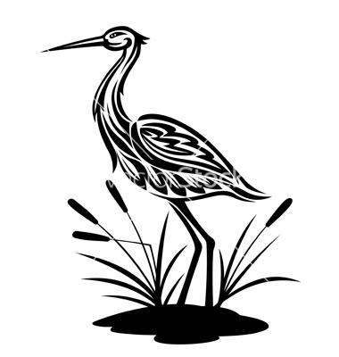 380x400 Heron Bird Vector Silhouettes Bird Silhouettes