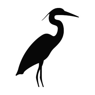 310x310 Crane Bird Silhouette Birds Decals, Decal Sticker