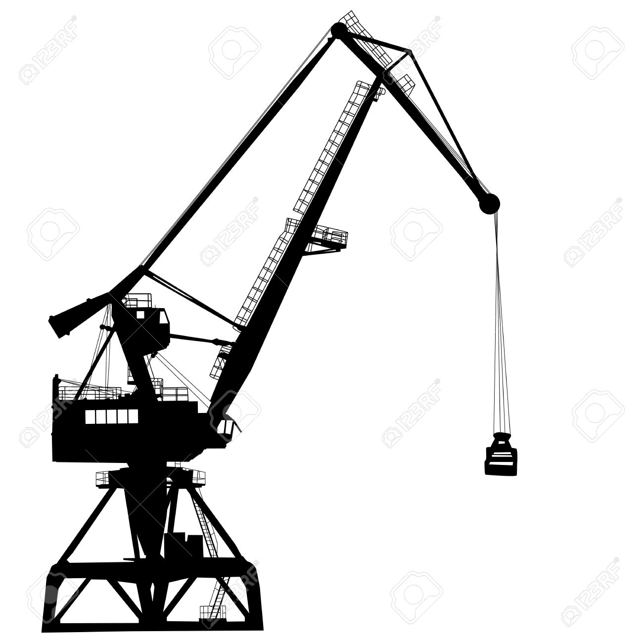 1300x1300 Crane Clipart Working