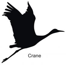 220x217 Crane Silhouette Let's All Cut Silhouette