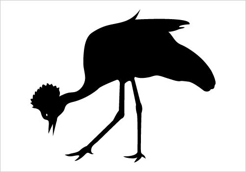 501x351 Crowned Crane Silhouette Graphics Silhouette Clip Art