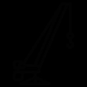 283x283 Truck Crane Silhouette Silhouette Of Truck Crane