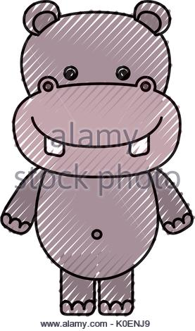 277x470 Color Crayon Silhouette Caricature Cute Elephant Animal Stock